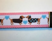 Adorable Dachshund Wristlet for Keys with 100% of the proceeds benefit Fureverdachshundrescue