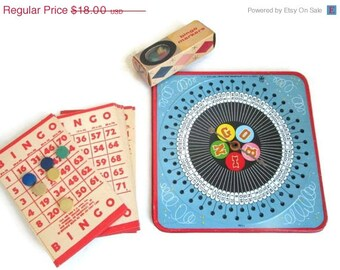 Bingo Board Retro Card Games Toys