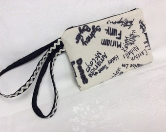 Clutch Wristlet with Names
