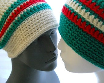 CROCHET PATTERN: Show Your Love Slouchy and Beanie Hat Pattern for Men and Women, Instant Download PDF