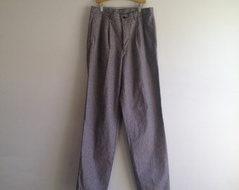 SALE Vintage 80's Gap Houndstooth Pants / Mens Pleated Trousers  32 x 34