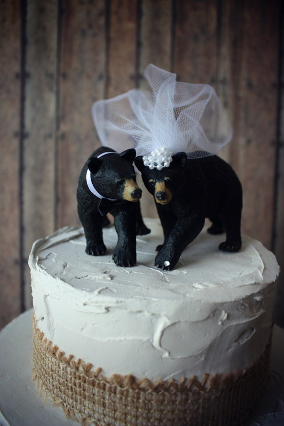 brown bear wedding cake toppers black wedding cake topper brown grizzly 12190
