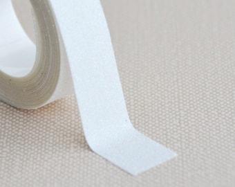 glitter tape- white glitter - limited edtion