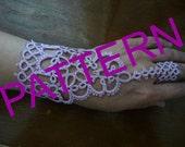 "Tatting pattern Slave Bracelet Ring ""Shakti""  - pdf tutorial - PDF pattern - shuttle tatting - needle tatting."