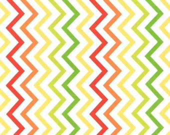 Michael Miller Fat Quarter Fabric for quilt or craft Mini Chic Chevron in Citrus