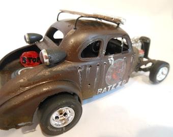 Classicwrecks Scale Model Rusted Rat Rod Car