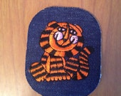 Vintage 1960 Denim Embroidered Psychedelic Mod Tony the Tiger Patch