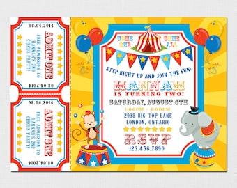 Circus Invitation - Carnival Invitation - Vintage Circus Invitation - Circus Birthday Party - Cirus - Invitation Circus - Printable