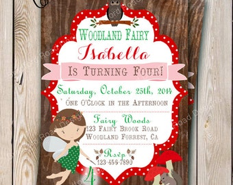 Woodland Fairy Invitation Fairy Party Fairy Woodland Birthday Invitation Printable Invitation Woodland Fairy Tinkerbell