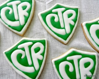 CTR Shield Decorated Sugar Cookies- Cookie Favors (#2357)