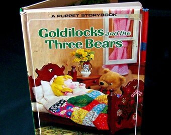 Vintage Children's 3D Book - Goldilocks and the Three Bears - 1970