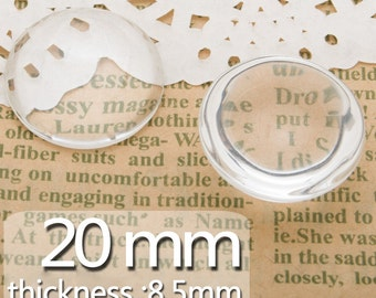 50PCS 20MM Semicircle Flat Back clear Crystal glass Cabochon,Top quality C3457
