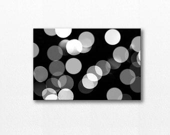 abstract art canvas print bokeh photography canvas art 12x18 24x36 fine art photography black and white canvas wrap home decor canvas art