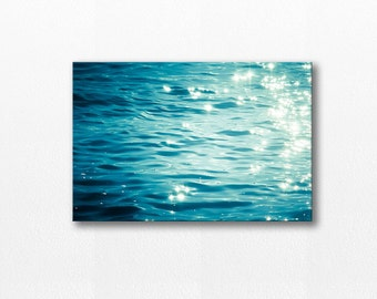 abstract canvas art nautical decor beach photography canvas print 12x12 20x30 fine art photography coastal canvas art blue azure canvas wrap