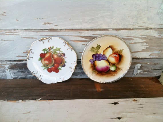 Https Www Etsy Com Listing 180318840 Vintage Fruit Plates Home Decor Retro