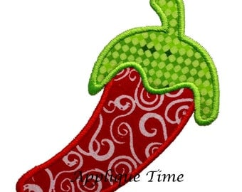 Instant Download Chili Pepper Machine Embroidery Applique Design 4x4, 5x7 and 6x10