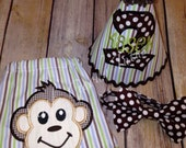 Monkey SMASH CAKE SET My Little Monkey First Birtday Boys Outfit