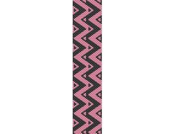 Pink Zig Zag Peyote Cuff Pattern