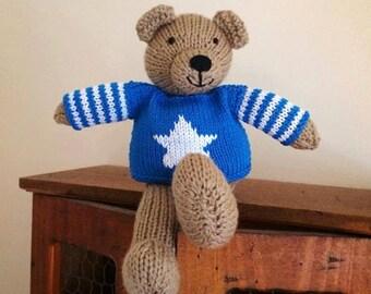 James Hand Knitted Teddy Bear