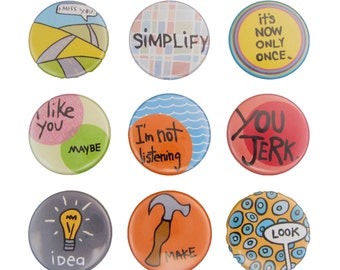 Just Say It - Pick your 4 Magnets - Words Magnets - Message Magnets