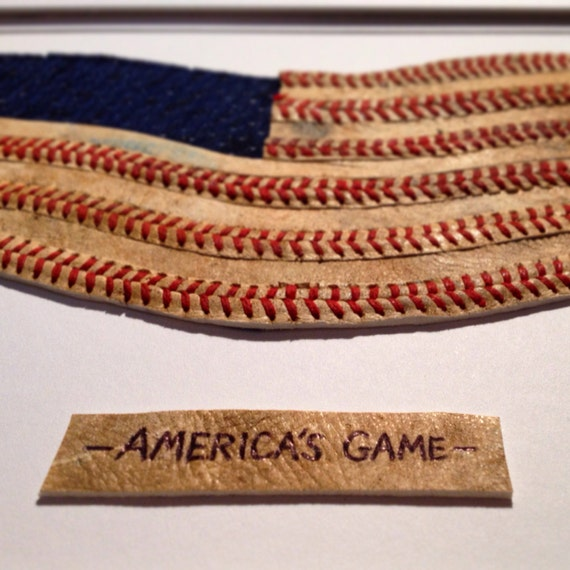 Baseball Seams American Flag Original Artwork By