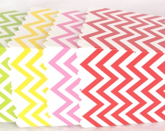 Paper Popcorn Boxes with DIY printable file--Chevron rainbow pack-12ct--parties,wedding,favors
