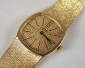 Vintage Men's 14K Yellow Gold Continental Geneva WristWatch 62.1g