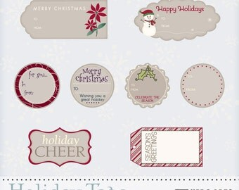 Instant Download Hero Arts Holiday Tags Digital Kit DK023 Christmas