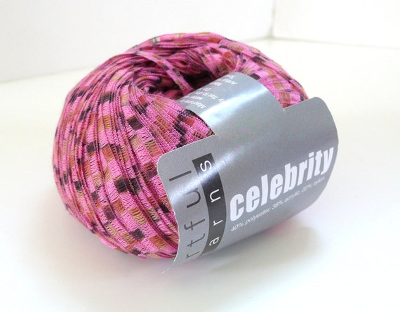 Novelty Yarn : Items similar to Pink Novelty Yarn Celebrity Artful Yarn on Etsy