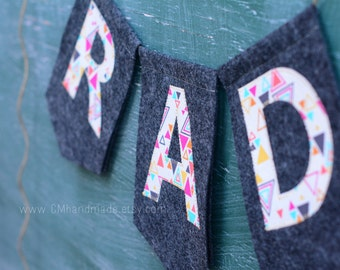 RAD felt banner