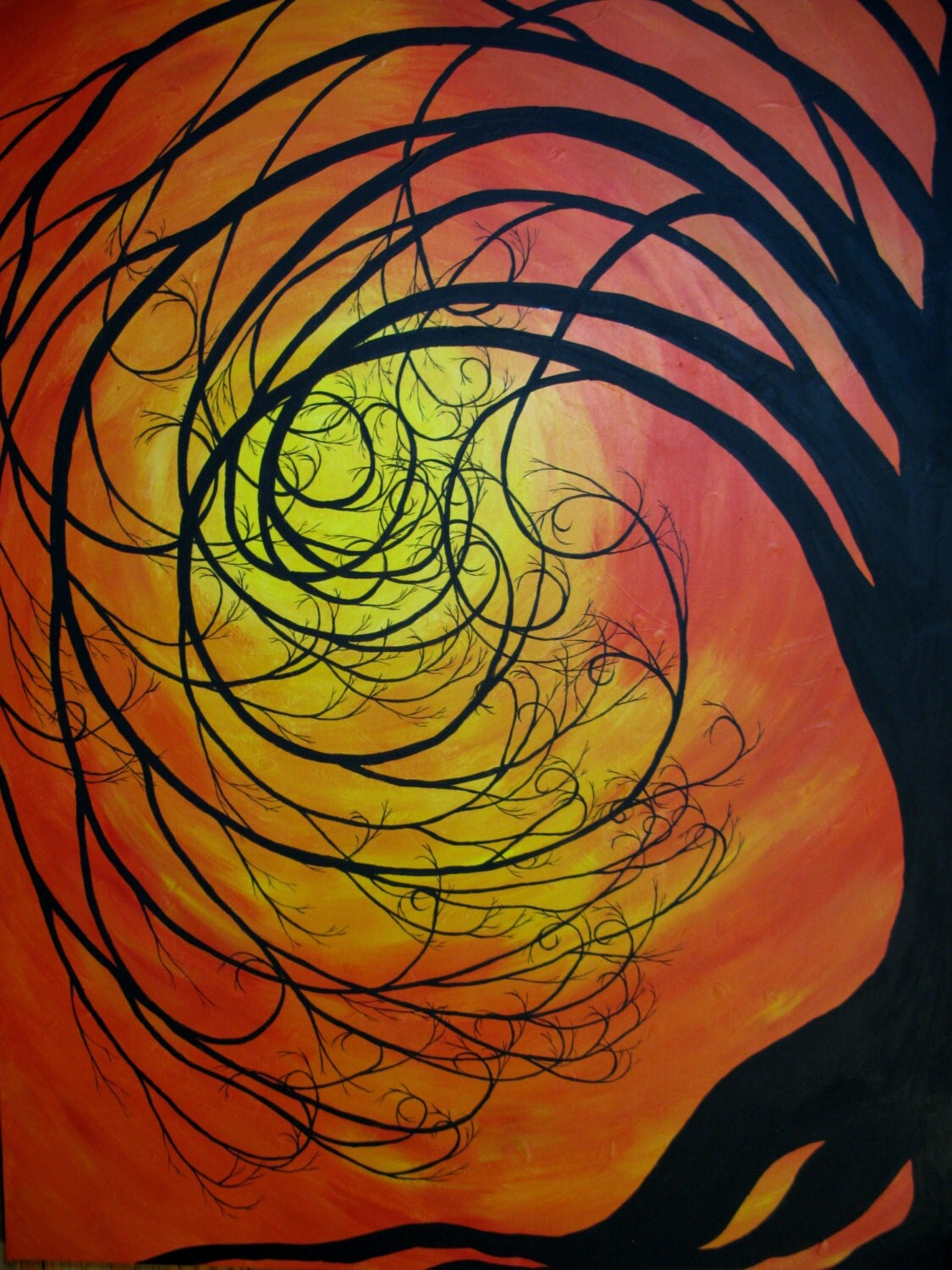 Whimsical Tree Painting Home Decor Room Decor By