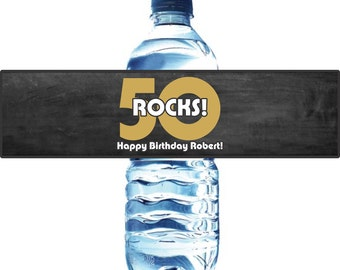 Birthday Water Bottle Labels - Waterproof Self Stick Labels
