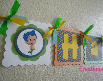 Bubble Guppies Party Banner for Boys