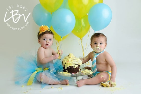 Boy And Girl Twins Cake Smash Outfit Twin Boy And Girl First