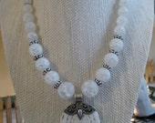 Crackle quartz necklace