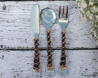 Brown and Gold Appetizer Set/3