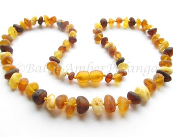 Raw Unpolished Baltic Amber Multicolor Beads. For Adults