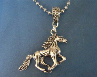 Horse Pendant! Large, Silver Horse Charm, Pendant! OOAK! Horse Lovers Gift, Teen Gift, Birthday Gift, Holiday Gift, Unisex Gift