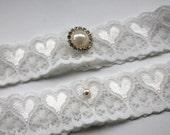 Bridal Garter -  Simply 'Love' Chic Ivory Garter - The Original Simply Chic Garter - Special Offer