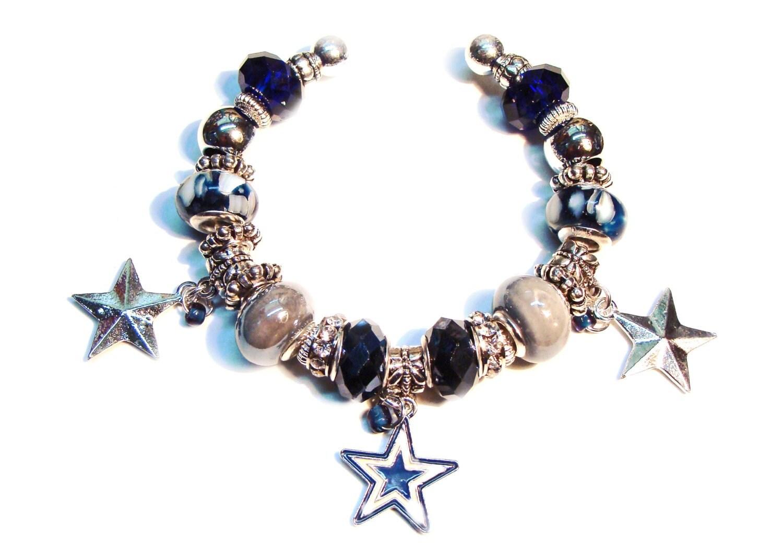 dallas cowboys cuff bracelet with rhinestones dallas cowboy. Black Bedroom Furniture Sets. Home Design Ideas