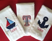 Nautical Burp Cloth's