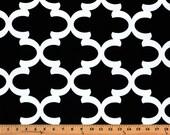 Black White Fynn Quatrefoil Contour Changing Pad Cover