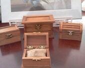 """Wedding ring box minature larger 3"""" X 5"""" burlap pillow donnasu"""