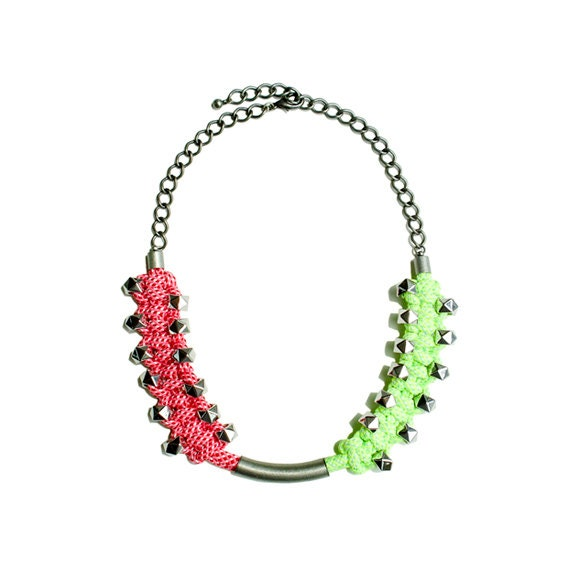 Neon Braided Rope Necklace