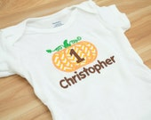 Personalized Onesie, Pumpkin Birthday Outfit, Fall First Birthday for Boys, Pumpkin Cake Smash Outfit, Personalized Birthday Shirt