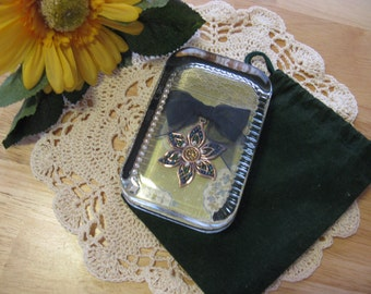 Rectangle Glass Jewelry Paperweight