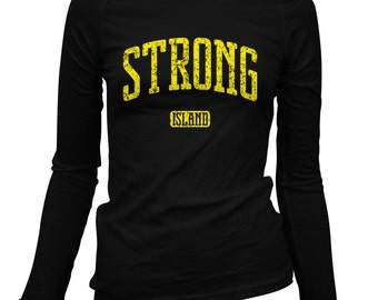 Women's Strong Island Long Sleeve Tee - LS Ladies T-shirt - S M L XL 2x - Long Island New York - 2 Colors