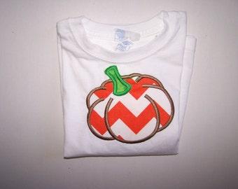 Pumpkin Applique TShirt Short Sleeve