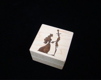 Inlaid Engagement Ring Box, The Proposal.  RB 56.  Free Shipping and Engraving