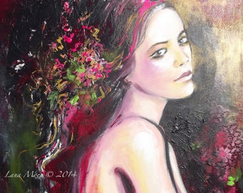 """Original Figure Painting -  Size 20"""" tall and 20"""" wide - Contemporary Figurative Painting"""